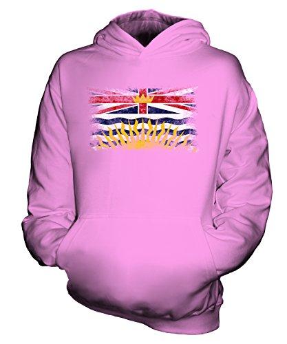 Candymix British Columbia Weinlese Flagge Unisex Kinder Jungen/Mädchen Kapuzenpullover, Größe 1-2 Jahre, Farbe Rosa - 1/2 Chr