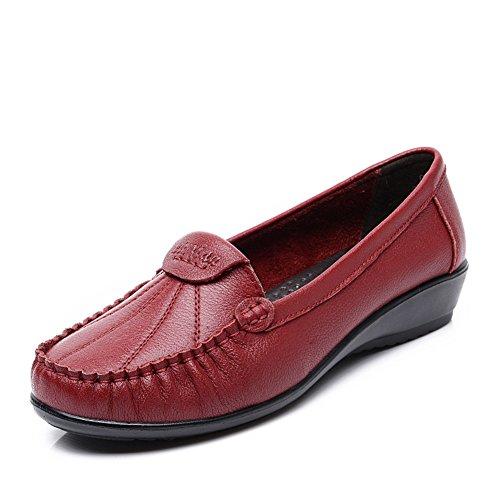 chaussures asakuchi mère/Au milieu en bas doux et de vieilles femmes âgées pointure/Chaussures à talon plat B