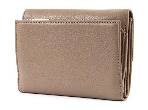 COCCINELLE Metallic Soft Flap Wallet Noir Beige