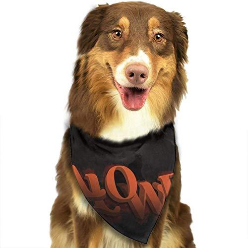 Wfispiy Hund Bandana Haustier Schal Halloween Night Classic Pet Bandana Haustier Halsbänder für Hund Katze eine Größe (Texas Halloween Arizona)