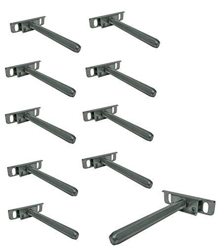 10 x Regalträger Regalbodenträger Tablarträger Halterung Regalhalterung Regalhalter unsichtbar SAMWERK® -