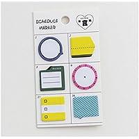 Huyizhi Creativo Nota adhesiva de montaje para clasificación Nota de mensaje lindo (amarillo) para sus suministros officce