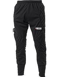 Derbystar Torwarthose Kai - Pantalones cortos de portero de fútbol para niño, color negro, talla 6 años (116 cm)