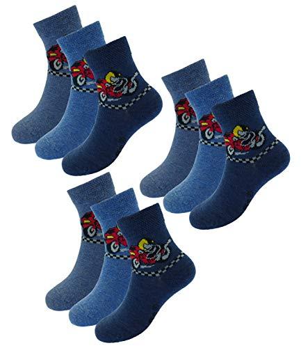 EveryHead Riese 9er Pack Jungensocken Sparpack Markensocken Socken Strümpfe Kleinkind ganzjährig Summer Rallye Blue Kinder (RS-20813-S19-JU0-3x25-27/30) in 9er Jeans, Größe 27/30 inkl Hutfibel -