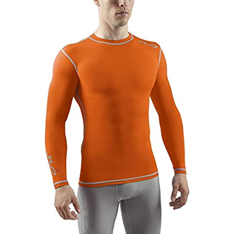 Sub Sports - Camiseta de compresión para hombre, talla 2XL, color naranja