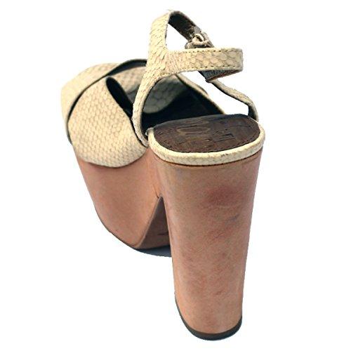 Sam Edelman piattaforma in pelle sandali, taglia 3, 5 RRP £120 Bianco (Bianco ghiaccio)