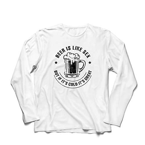 irts Bier ist wie Sex, Aber wenn es kalt ist, ist es toll, Humorvolles Geschenk (Small Weiß Mehrfarben) ()