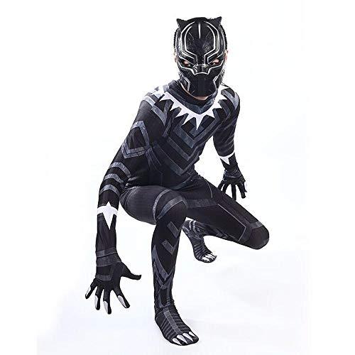 Kostüm Panther Für Erwachsene - Cosplay Kleidung Black Panther Cosplay Kostüm Lycra Siamese Strumpfhosen 3D Digitaldruck Enge Weihnachten Halloween Kostüm Für Erwachsene/Kinder Tragen Kid-L