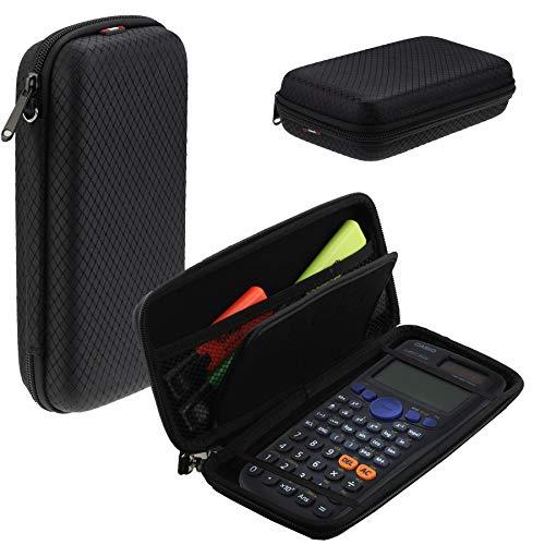 Navitech Schwarz Schock Sicher Eva Calculatrice Grafische/Taschenrechner Schutztasche/Abdeckung / Fall/Gehäuse für TI Nspire CX CAS
