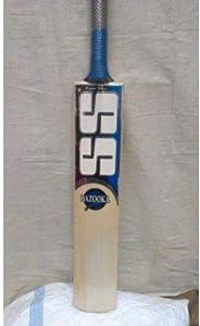 Ss Sunridges Bazooka Kashmir Willow Cricket Bat, Full Size, Black/Orange [10010093]