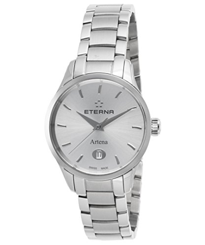 Eterna Women's Steel Bracelet & Case S. Sapphire Quartz Watch 2530-41-10-0286