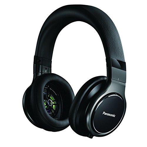 Panasonic RP-HD10E-K Premium Kopfhörer (Over-Ear, abnehmbares Kabel, 50 mm Wandler, 6,3 mm Adapter) schwarz