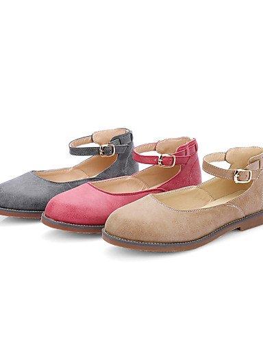 WSS 2016 Chaussures Femme-Décontracté / Habillé-Rouge / Gris / Amande-Talon Bas-Talons / Bout Arrondi-Talons-Similicuir red-us10.5 / eu42 / uk8.5 / cn43