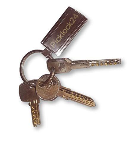 Picklock24. Juego de llaves maestras multipunto válidas para cerraduras de España (3 llaves)
