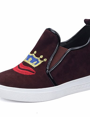 ZQ Scarpe Donna - Mocassini - Tempo libero / Casual - Comoda / Punta arrotondata - Zeppa - Di pelle - Nero / Marrone , brown-us8 / eu39 / uk6 / cn39 , brown-us8 / eu39 / uk6 / cn39 black-us5 / eu35 / uk3 / cn34
