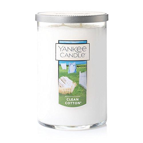 YANKEE CANDLE Duftkerze im Glas, groß, 2 Dochten, Clean Cotton