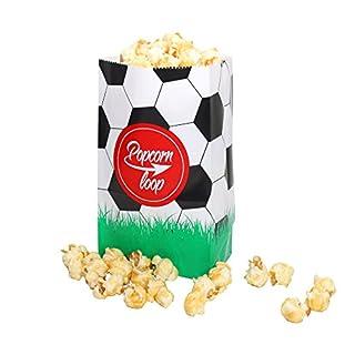 popcornloop Die Original Fußball Popcorntüten 10 x 6er Packungen Insgesamt 60 Stück Material Aus Papier Heimkino Erlebnis