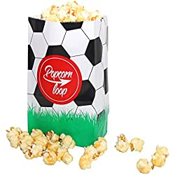 La original palomitas Loop Fútbol palomitas bolsas 20x 6Paquetes total 120pieza material de papel experiencia de cine en casa