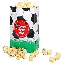 La original palomitas Loop Fútbol palomitas bolsas 10 x 6 Paquetes 60 unidades en total material