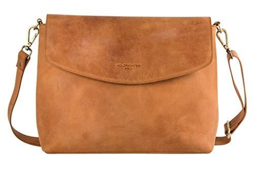 22771e2bd07ec HOLZRICHTER Berlin Umhängetasche (L) - Premium Leder Messenger Tasche  mittel-groß A4 Größe