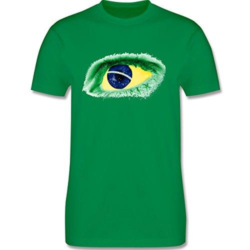 Länder - Auge Bodypaint Brasilien - Herren Premium T-Shirt Grün