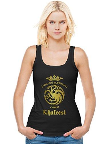 Game I'm Not A Princess I'm A Khaleesi Thrones Damen Schwarz Medium Tank (Khaleesi Aus)
