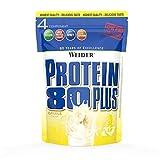 WEIDER Protein 80 Plus Eiweißpulver, Banane, Low-Carb, Mehrkomponenten Casein...