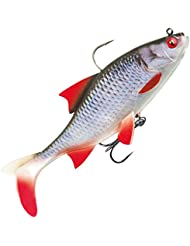 Fox Rage Replicant Realistic Roach - Gummifisch zum Spinnfischen, Gummiköder zum Spinnangeln, Swimbait zum Hechtangeln, Hechtköder