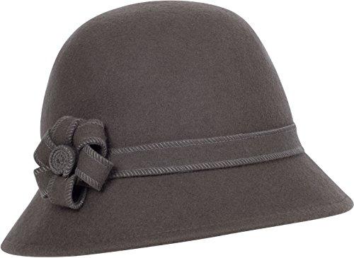 Sakkas 20M Molly Vintage Style Wolle Cloche Hut - Taupe Grau - Eine Größe -