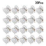 Frcolor 24 Stücke Mini Haarspangen Transparente Haargreifer Kunststoff Haarspange Clips Rutschfeste Haarnadeln für Mädchen und Frauen