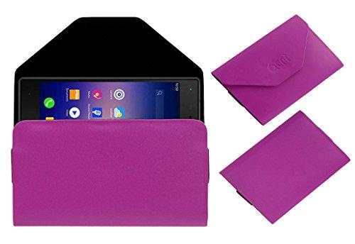 Acm Premium Pouch Case For Karbonn Quattro L51 Hd Flip Flap Cover Pink
