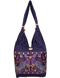 Womaniya Women's Shoulder Bag (Blue) (Woman-897)