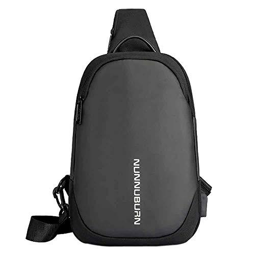 Damentasche Schwarz Männer Anti-Diebstahl-USB-Tasche Brusttasche Oxford Tuch Outdoor Umhängetasche Umhängetasche Clutch