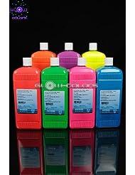 Kryolan - Pack Fard liquide 7 couleurs fluorescentes 1 L