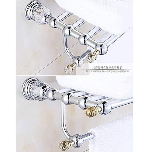 CWJ Wandkombination Regal, Anhänger Hardware Wand Bad Gold Bad Bad WC Set Eingelegte Kristall Handtuchhalter Papier Handtuchhalter Lagerregal,1 -