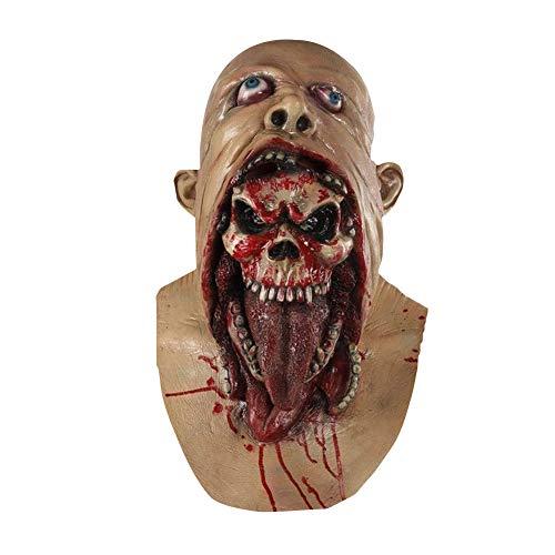 Horror zombie maschera in lattice biochimici mostro maschera intera tuta per costume party halloween