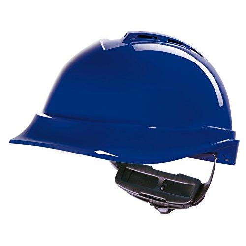 MSA Safety - Casque de chantier V-Gard - norme EN 397 - divers coloris au choix - Bleu, V-Gard Prime De 200