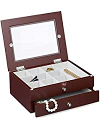 c87da8baa5f9 Amazon.es  Joyero cristal - Cofres   Cajas y organizadores  Joyería