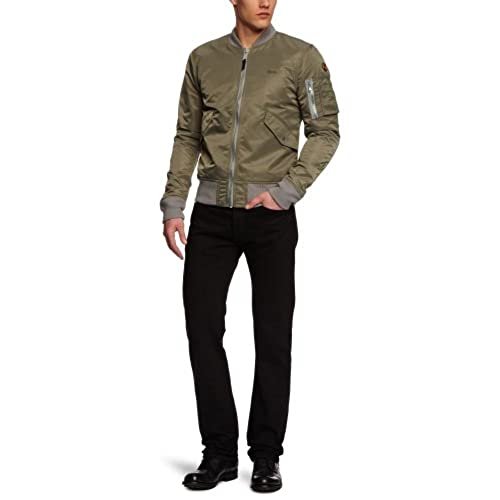 Ac - Blouson - Teddy - Manches longues - Homme, Gris (Kaki), FR : S (Taille Fabricant : S)Schott NYC