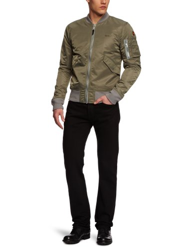 Schott NYC Herren Blouson Jacke JKTAC, Gr. Medium, Grün (Khaki 14)