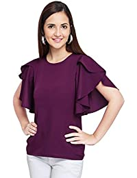 OOMPH! Women's Crepe Tank Top - Eggplant Purple