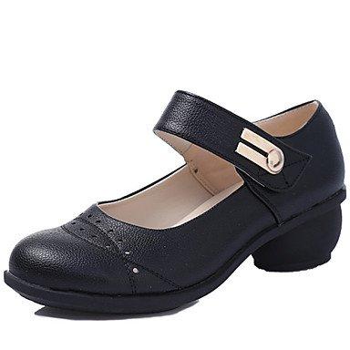 Silence @ Chaussures de danse pour femme Sneakers respirant Cuir Talon cubain Noir/blanc/rouge/marron marron