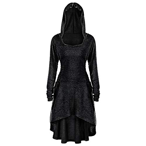 Damen Gothic Mäntel, Steampunk mittelalterliche Viktorianische Westen,Taille Rücken Bandage Stitching Overcoat,Vintage Gehrock Uniform Kostüm Windbreaker WQIANGHZI (Schwarz, XL)