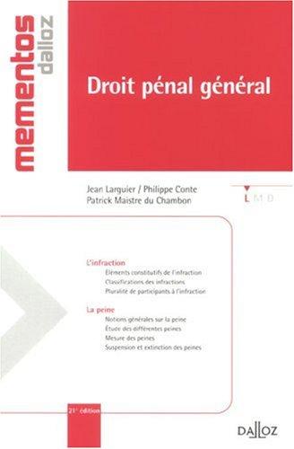 Droit pénal général par Jean Larguier