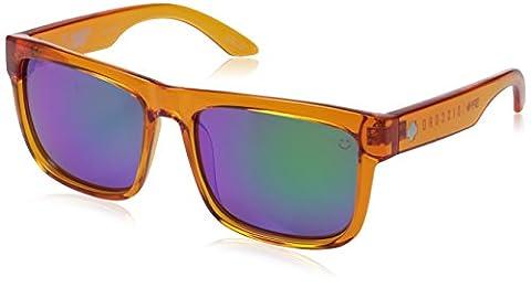 Spy Sonnenbrille Discord, Trans Orange- Happy Bronze W/ Green Spectra, One size, SPYGLA_DIS - Spy Bronzo Da Sole