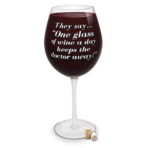 XXXL Weinglas mit 2,25l Fassungsvermögen - Riesen