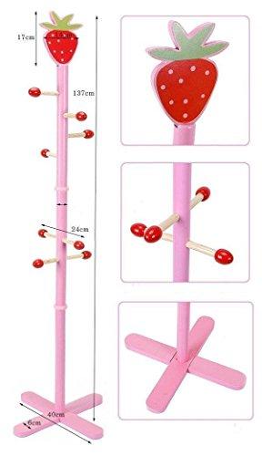 just4baby Kinder-Garderobenständer, Erdbeer-Design