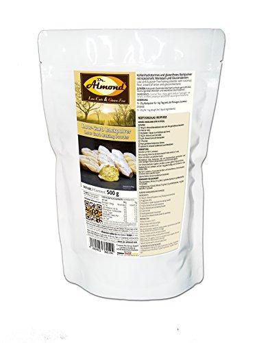 Dr. Almond Paleo Low-Carb Backpulver mit Kokosmehl & Weinstein 500 g extra triebstark für perfektes glutenfreies low-carb Backen phosphatfrei stärkefrei