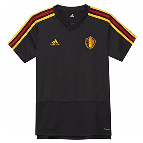 adidas Kinder Belgien Trainingstrikot, Black/Bold Gold, 140.0