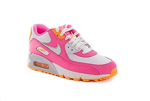 Nike Air Max 90 2007 (GS) Schuhe white-metallic silver-pink glow-atomic